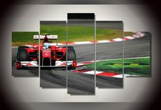 An awesome picture for any Ferrari- or Formula Size: Printed on high-quality, eco-friendly canvas and framed.Accessories needed for wall-attachement are provided with all of our canvas-products. Poster Pictures, Canvas Pictures, Summer Sale, Formula 1, Poster Prints, Room Decor, Canvas Prints, Wall Art, Stuff To Buy