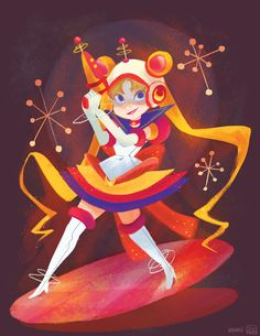 1 of 2 piece I did forQ Pop Shop's Sailor Moon show. her outfit is from a previous work (Retro Sailor Scouts) I did. (includes the other gi...