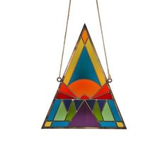 Extra big handmade stained glass triangle by David Scheid Sunset motif Stained Glass Rose, Stained Glass Quilt, Stained Glass Christmas, Stained Glass Panels, Stained Glass Suncatchers, Stained Glass Designs, Stained Glass Projects, Stained Glass Patterns, Art Nouveau