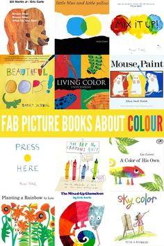 12 Fabulous Picture Books About Colour (and Color! Toddler Books, Childrens Books, Teen Books, Coloring For Kids, Coloring Books, Toddler Preschool, Toddler Play, Toddler Learning, Toddler Classroom