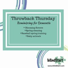 Springtime Reminiscing Activity for Dementia