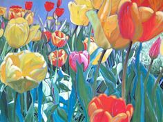 Tulip Festival Toby Jaxon (2013) Acrylic on Canvas 18in × 36in × 1in Current Bid: $1100.00