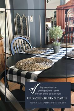 My new-to-me Farmhouse Table - Farmhouse Dining Room Table, Farmhouse Bench, White Farmhouse, Farmhouse Decor, Painted Bedroom Furniture, Cool Furniture, Furniture Ideas, Black And White Living Room, Diy Home Decor