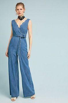 2c3909c9d874 Pilcro Denim Wide-Leg Jumpsuit  apparel  clothing  beautifulclothes   jumpsuit Jeans Jumpsuit