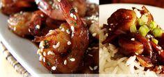 Crevettes sautées à l'asiatique avec gelée de pommette et basilic de Simon Turcotte confiturier. http://www.simonturcotte.com/recettes/crevettes-sautees-asiatique.php Simon