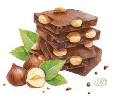 Chocolate patterns by Natalia Tyulkina, via Behance