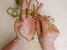 Finger knitting. I loved doing this when I was a kid. Need to teach my kids.