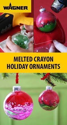 Create unique, festive, colorful holiday ornaments with the FURNO Heat Guns and crayons. Christmas Crafts For Kids, Christmas Projects, Winter Christmas, Holiday Crafts, Holiday Fun, Holiday Decor, Christmas Wrapping, Spring Crafts, Ideas