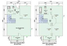 İki Katlı Müstakil Ev Planları