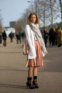 Martha Ward at Fashion Week. street style