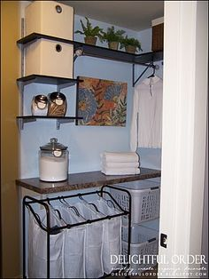 Great laundry room organizing tips! #organize