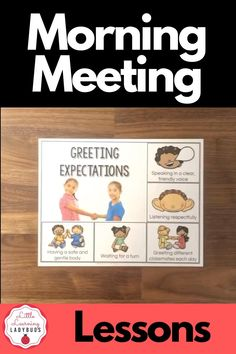 Start back to school by building your classroom community, helping students solve problems, strengthening social skills, and building trust with morning meetings. This class meeting product bridges together aspects of general education, speech, and language to provide teachers with a ready to use year-long classroom meeting curriculum. Lessons, visual expectations, and rings cards for greeting, sharing, activity, and message. #morningmeeting #classmeeting #communitycircle Classroom Meeting, Calm Classroom, Building Classroom Community, Classroom Behavior, Classroom Environment, Classroom Management, Classroom Ideas, Class Meetings, Morning Meetings