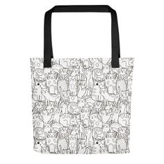 Bring your favorite design everywhere you go. Print Patterns, Reusable Tote Bags, Kitty, Fabric, Cotton, Shopping, Little Kitty, Tejido, Tela