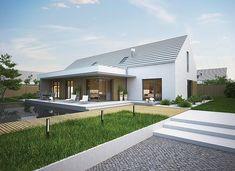 Pergola For Front Of House Modern Barn House, Modern Bungalow House, Modern House Design, Modern Farmhouse Exterior, Farmhouse Design, House Designs Ireland, Gable House, Shed Homes, Pergola