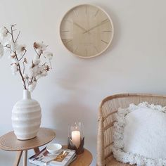 wall_clock_marcus_51cm_2 Pottery Plates, Slab Pottery, Organised Housewife, Clock For Kids, Desk Clock, Stylish Home Decor, Gold Hands, Outdoor Rooms, Home Organization