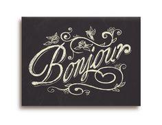 Bonjour, Chalk Shoppe Series by Franklin Mill, via Behance