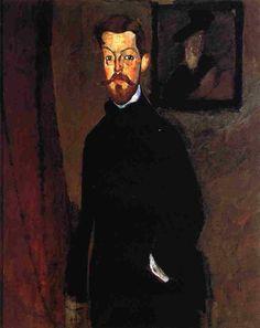 'Porträt von Dr. Paul Alexandre', öl auf leinwand von Amedeo Modigliani (1884-1920, Italy)