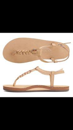 Rainbow sandals instead of flip flops