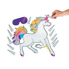 OTC - PIN the HORN on UNICORN/Birthday Party GAME/Blindfold & INSTRUCTIONS OTC http://smile.amazon.com/dp/B0050EM1L2/ref=cm_sw_r_pi_dp_Ga0Wwb06QH34F