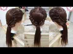 peinado facil y rapido con trenzas peinado para cabello largo 2016 - YouTube
