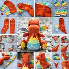 Make This Cute Sock Dragon for Your Kids