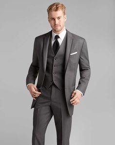 Jos. A. Bank Satin Edge Gray Tuxedo Wedding Tuxedos + Suit photo