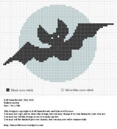 Halloween Bat | Free Crost Stitch Pattern