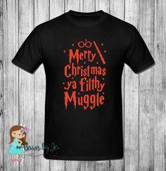 Merry Christmas Ya Filthy Muggle, Harry Potter Shirt, Wizarding World of Harry Potter, Universal Studios, #Christmas #muggle #harrypotter #merrychristmasyafilthymuggle #homealone #wizards #wizardingworld #xmas #holidayvacation #christmasvacation