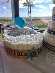 Diaper boat cake