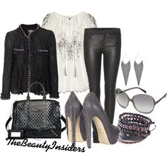 Love the D & G lace black jacket <3, created by thebeautyinsiders on Polyvore