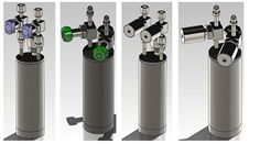 150-700cc Gas Delivery Bubblers