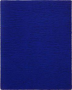 Yves Klein. Monochrome proposals. 1957 - beautiful Reflex blue dust paint