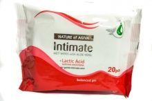 AGIVA Влажни интимни кърпички с алое и млечна киселина 20 бр.