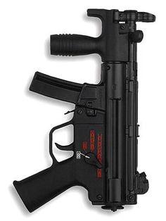HK MP5KA4 submachine gun with adjustable, open-type iron sights