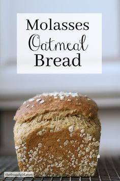 Molasses Oatmeal Bread - The Frugal Girl - Bread Recipes Healthy Bread Recipes, Yeast Bread Recipes, Baking Recipes, Artisan Bread Recipes, Cornbread Recipes, Jiffy Cornbread, Chef Recipes, Easy Recipes, Soup Recipes