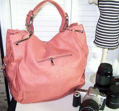 Dslr Camera Bag PUrse Hobo Antiqued Coral Rose