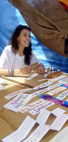 Caligrafía en el mercado de Castronuño. Calligraphy. Esther Gordo.