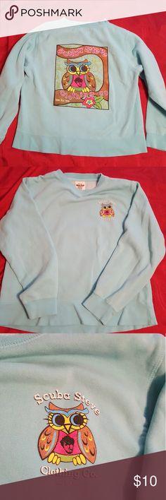 Lady Comfort Colors Sweat Dhirt Turquoise Scuba Steve Owl Design Lady Tops Sweatshirts & Hoodies