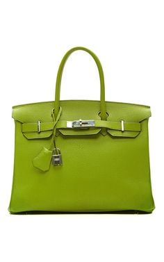vert anis chevre leather hermes birkin. #bagporn