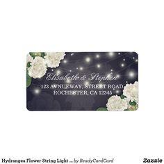 Shop Hydrangea Flower String Light Blue Wedding Address Label created by ReadyCardCard. Mailing Address Labels, Address Label Template, Wedding Address Labels, Custom Address Labels, Blue Wedding, Floral Wedding, Hydrangea Flower, Flowers, Botanical Wedding
