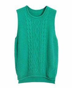 Vintage Style Pure Color Round Neckline Side Slit Knitwear