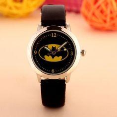 Batman Children Watch Fashion Watches Quartz Wristwatches Waterproof Jelly Kids Clock boys girls Students Wristwatch