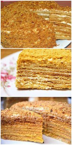 Russian Honey Cake, Baking Soda Benefits, Dessert Cake Recipes, Vegan Kitchen, Russian Recipes, Serving Dishes, Vegan Desserts, Amazing Cakes, Food To Make