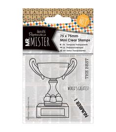 Papermania Mr. Mister Mini Clear Stamps - Trophy