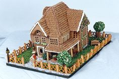 Take your gingerbread house to the next level with a pretzel picket fence.