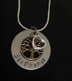 Love and Tree of life Necklace - made to order by Giftitright on Etsy