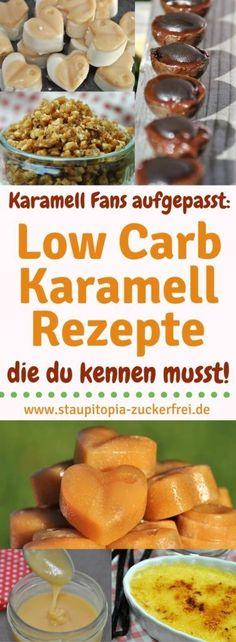 Low Carb Rezepte mit Karamell: Wenn du schon immer ein Fan von Karamell warst, dann werden dich diese Low Carb Karamell Rezepte begeistern! Egal ob selbstgemachte Karamell-Bonbons, Karmellsoße, Krokant oder auch Creme Brulee - all diese köstlichen Naschereien lassen sich auch Low Carb herstellen. In meiner Rezeptsammlung der besten Low Carb Karamell Rezepte erfährst du, wie du diese und noch weitere Low Carb Karamell Rezepte ganz einfach selber machen kannst. #karamell #lowcarb #ohnezucker