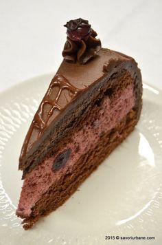 Tort de ciocolata cu mousse de visine Savori Urbane (7) Romanian Desserts, Romanian Food, Cake Cookies, Cupcake Cakes, Pastry Cake, Something Sweet, Dessert Bars, Healthy Desserts, Cake Recipes