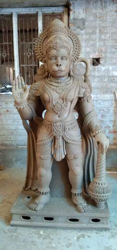 Hanuman Murti, Art Deco Artwork, Lord Ganesha Paintings, Good Morning Images Download, Jai Hanuman, Shiva Shakti, Samar, Sculpture Clay, Sculpting