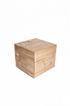 Easily mistaken for a simple wooden box, the Shrine's actually a labyrinthian set of lockable drawers, each sized to accommodate a specific item you'd want kept safe & secure.